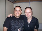 Gino Alache With Lars Ulrich of Metallica on Death Magnetic Tour 2010